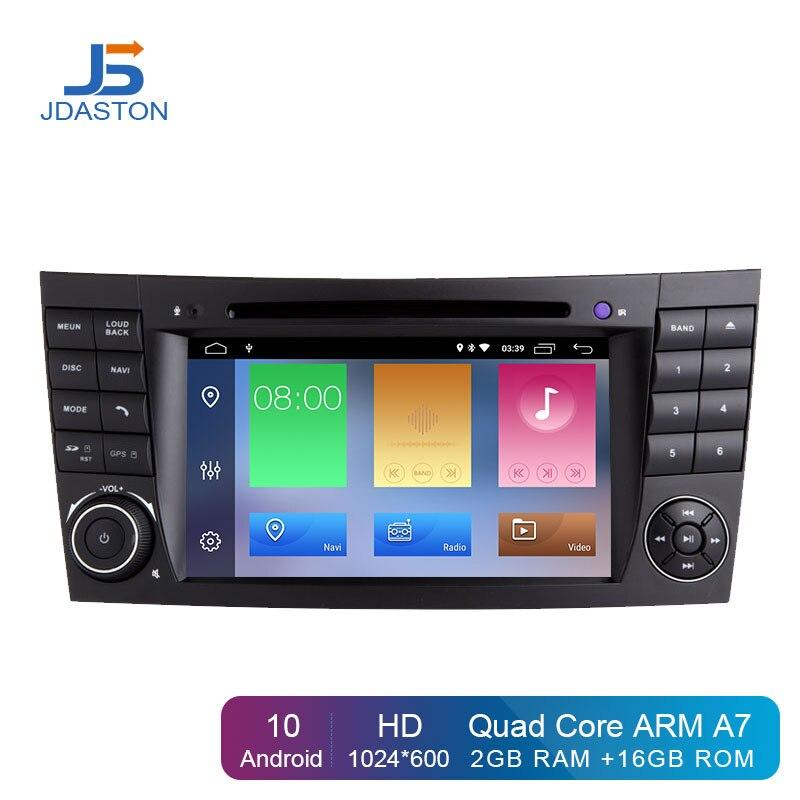 JDASTON 2 דין מולטימדיה לרכב עבור מרצדס בנץ E-class W211 E200, E220, E240, E270, e280, E300, E320, E350, E400, E420, E55 רדיו GPS Navi