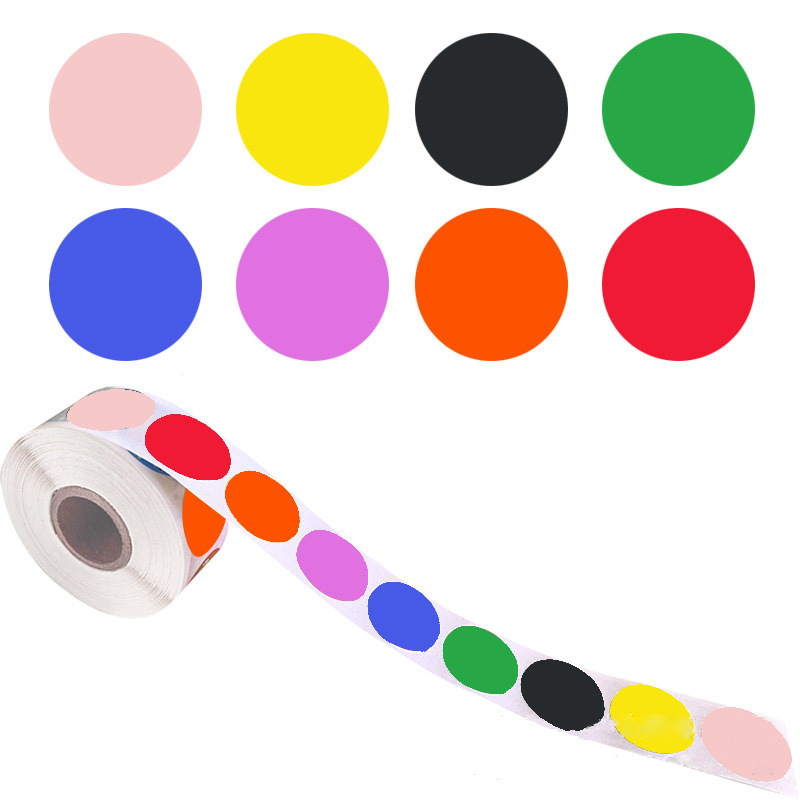 8 цветов, 500 шт., круглые хромные этикетки в форме сердца, наклейки в горошек, клейкие этикетки для запечатывания для детей, милые бумажные кан...