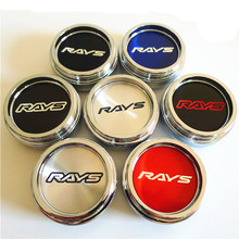 4pcs 60mm For RAYS Car Wheel Center Hub Emblem Badge Cap Cover 45mm Stickers Auto Styling  Accessories
