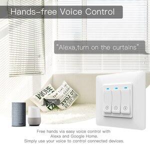 Image 3 - Persiana enrollable inteligente con WiFi, cortina de botones con Control remoto, motorizada, Tuya, Alexa y Google Home