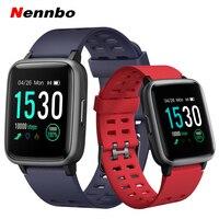 Id205 tela de toque bluetooth relógio inteligente à prova dwaterproof água rastreador fitness esportes pulseira pedômetro chamada lembrete smartwatch|Relógios inteligentes| |  -