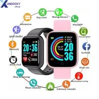 Reloj inteligente Y68 para hombre, pulsera electrónica con Monitor de Fitness, regalo para pareja, negro, blanco y rosa