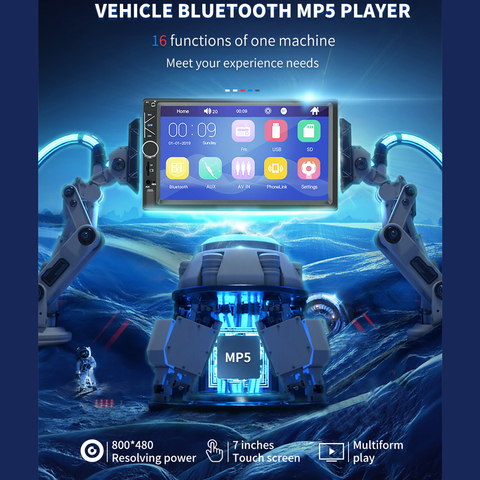 7 polegada carro mp5 player player de