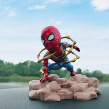 New Spider Man Action Figure Avengers Marvel Iron Man Car Decoration Accessories Figure Model Toys for Children Boys Girls Gifts