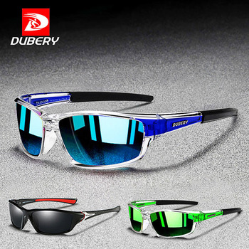 DUBERY Outdoor Sport Sunglasses Men Polarized UV400 Mirror Shades Sun Glasses for Male Fishing Driving Mens