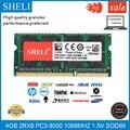 SHELI 4 Гб 2RX8 DDR3L-8500S 1.5В 1066 МГц SODIMM RAM память ноутбука