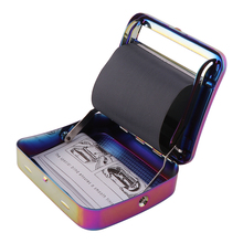 Rainbow Metal Rolling Machine Tobacco Roller Cigarette Case 70mm Manual Tobacco Roller Cigarette Rolling Machine For Smoking