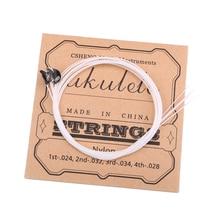 A Set White Nylon Ukulele Strings for Ukulele Uke Guitar Replacement Parts