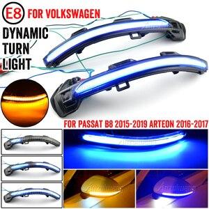 Image 5 - עבור פולקסווגן פאסאט B8 Arteon 2015 2016 2017 2018 2019 2Pcs רכב דינמי LED להפוך אות אור אחורית מראה נצנץ מחוון