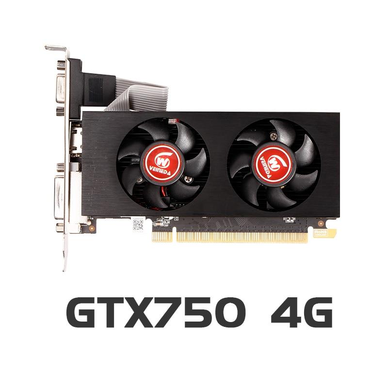 Graphics Cards gtx 750 4GB 128Bit GDDR5 Geforce  PC Desktop Computer games for nVIDIA Map VGA stronger than GTX750 2GB 1