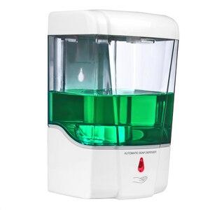 Image 3 - Настенный Бесконтактный пластиковый автоматический датчик дозатора жидкого мыла для ванной, кухни, большой емкости 600 мл/700 мл
