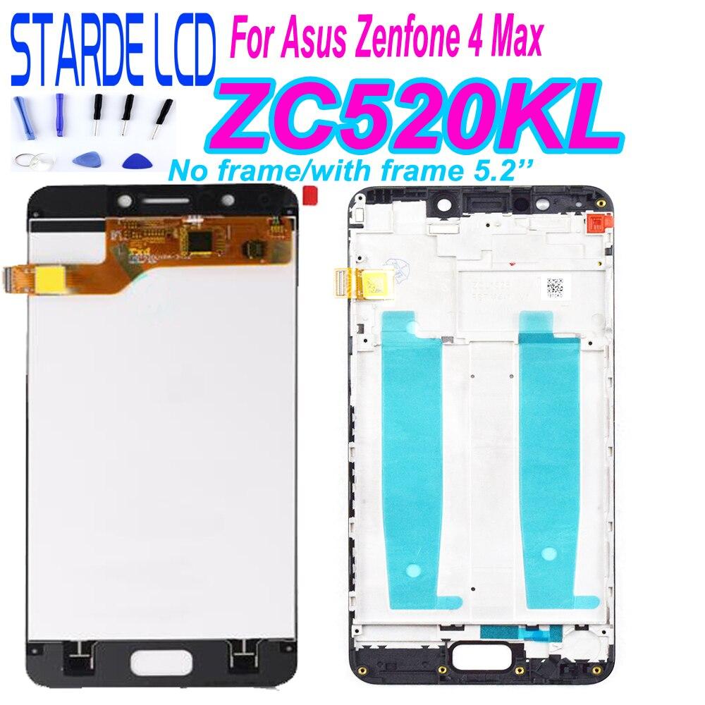 Starde 5.2 ''écran pour Asus Zenfone 4 Max ZC520KL X00HD LCD écran tactile numériseur verre assemblage avec cadre et outils