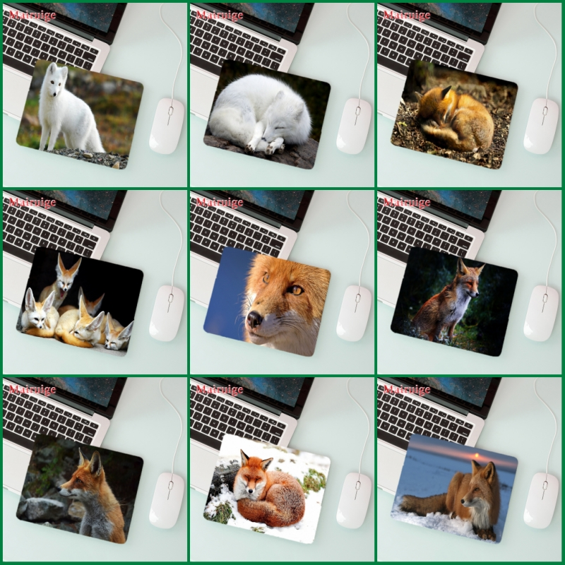 Mairuige Big Promotion Laptop Mouse Pad Wild Animal Fox   Player Playing  Small Size 180 * 220  2mm