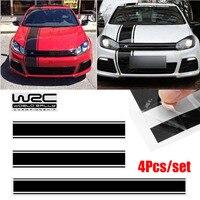 Car Exterior Stickers 1set/4pcs Black Car Racing Stripe Vinyl Sticker Decal For Cover Roof Trunk Door Onsale