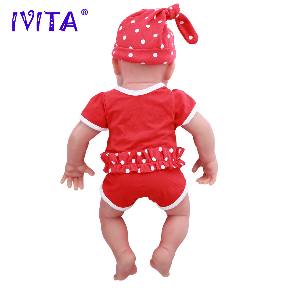 IVITA WG1510 47cm 3.67kg Meisje Ogen Gesloten Hoge Kwaliteit Full Body Siliconen Reborn Poppen Geboren Alive Brinquedos Realistische baby Speelgoed-in Poppen van Speelgoed & Hobbies op  Groep 3