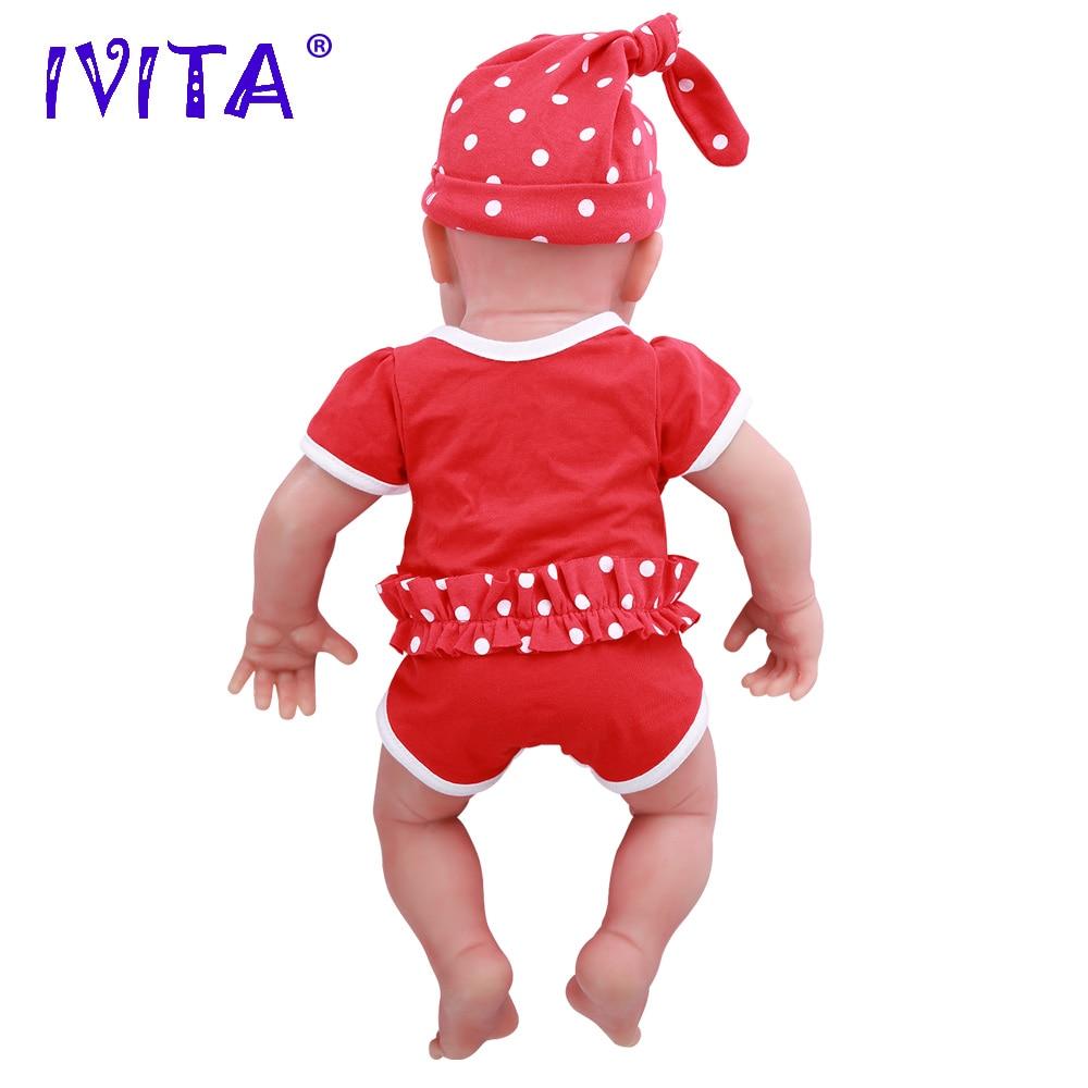 IVITA WG1510 47cm 3.67kg dziewczyna oczy zamknięte wysokiej jakości pełna ciała silikon Reborn lalki urodził się żywe Brinquedos realistyczne zabawki dla dzieci w Lalki od Zabawki i hobby na  Grupa 3