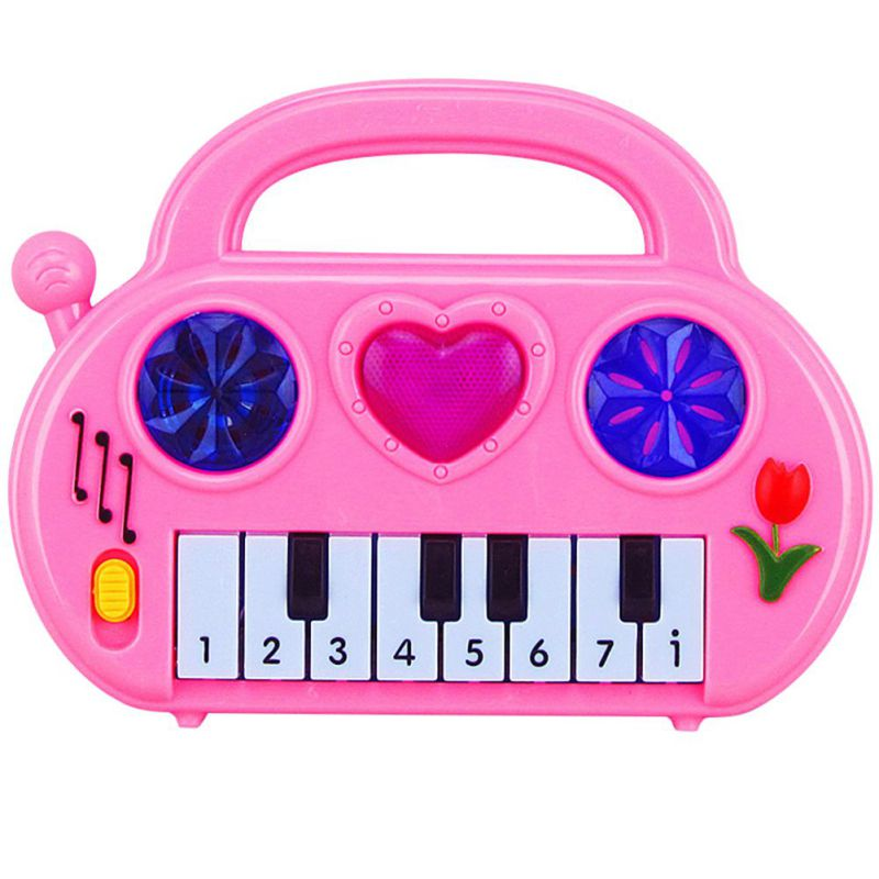 NEW Musical Children Car Electronic Piano Keyboard Toys With Lighting Educational Toddlers Gift Color Random 1PC image