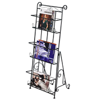 Magazin  zeitung rack  buch rack  daten rack  landung eisen kunst kreative werbung display regal  drei dimensional bücherregal -