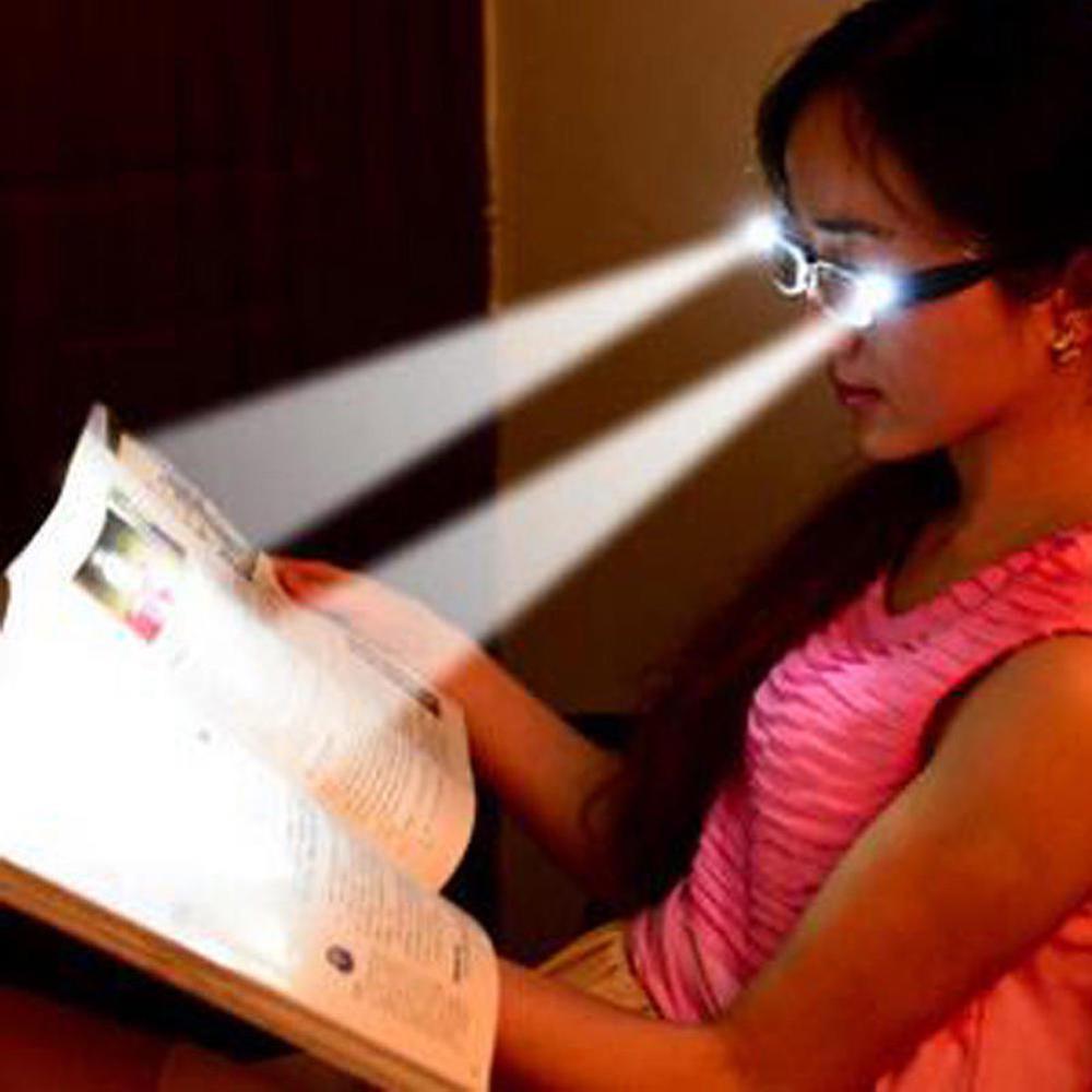 Мульти очки для чтения с светодиодный очки мужские женские Юнисекс, зеркальное зрелище диоптрическая Лупа светильник со шнуровкой