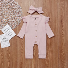 Baby Girl Boy Clothes Romper Jumpsuit Headband Outfits