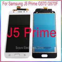 Para samsung j5 prime lcd screen display com toque digitador assembléia peças de reparo substituição g570 g570f g570m