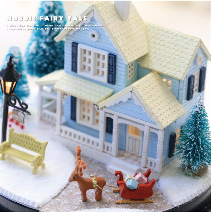 Nordic Fairy Tale Glass Ball DIY 3D Dollhouse