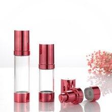 Hot Koop1pc 15/30/50 Ml Lege Airless Cosmetica Lege Fles Pomp Plastic Verwerking Handig Reizen Fles Airless Crème Vacuüm fles