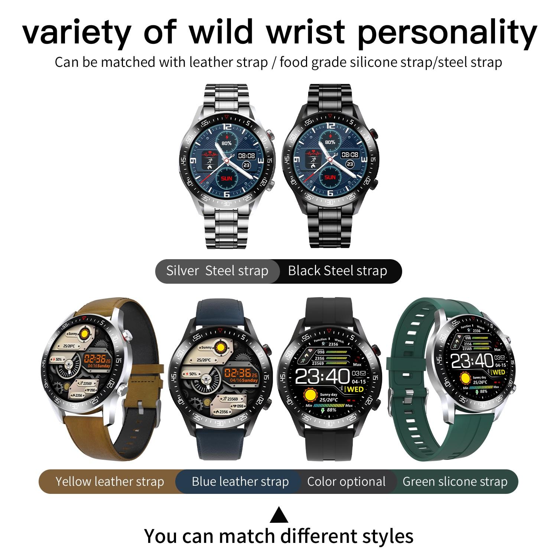 H33899402b06a4634a07b7445cbb2fbeeI XUESEVEN 2021 HD Full circle touch screen Mens Smart Watches IP68 Waterproof Sports Fitness Watch Fashion Smart Watch for men