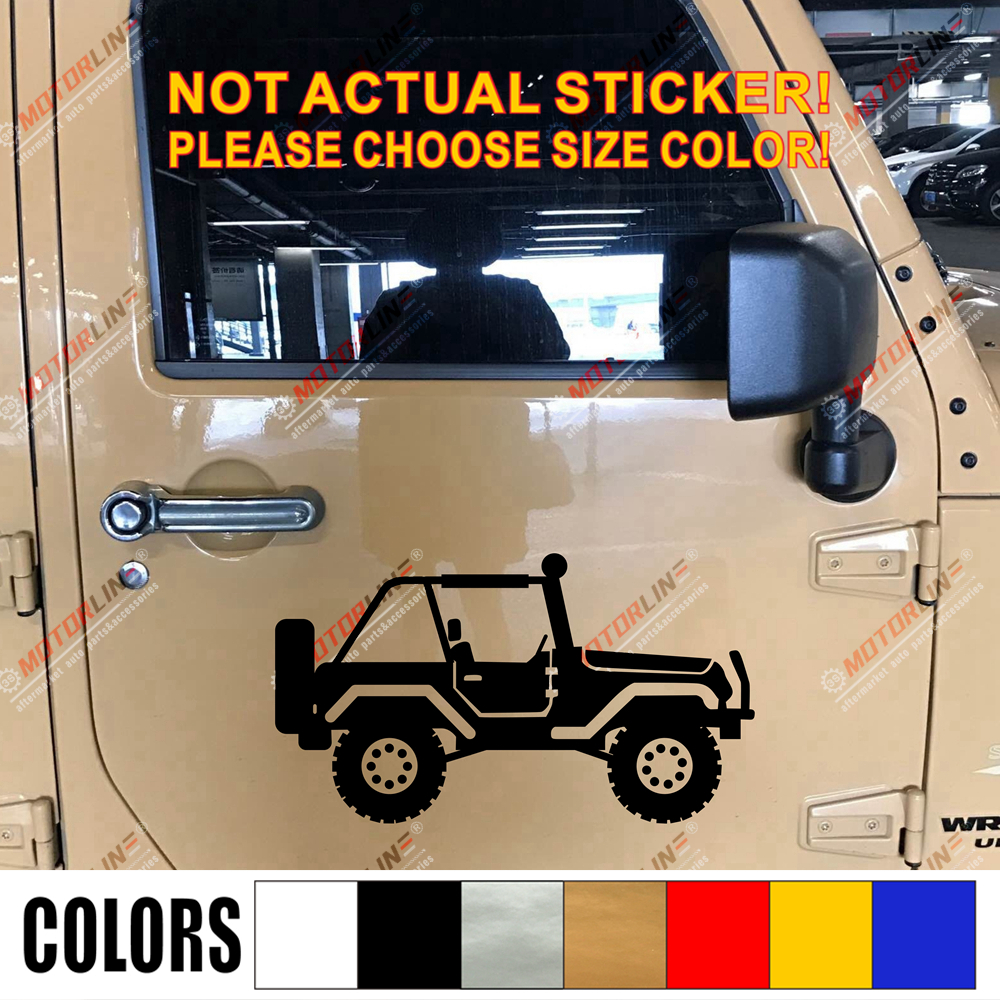 Jeep Willys Sticker Wrangler Hood Decal rubicon military decals stickers