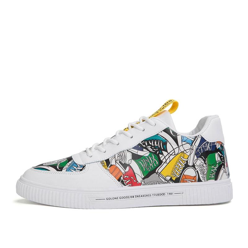 IGxx chaussures décontractées pour hommes coloré respirant utilitaire hommes chaussures de skateboard bas confortable baskets hommes