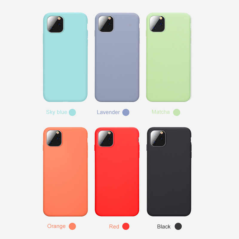 Funda de silicona líquida para iPhone, funda suave de Color caramelo para iPhone 11, 7, 8, 6, 6s Plus, 11 Pro, XS, Max, X, XR