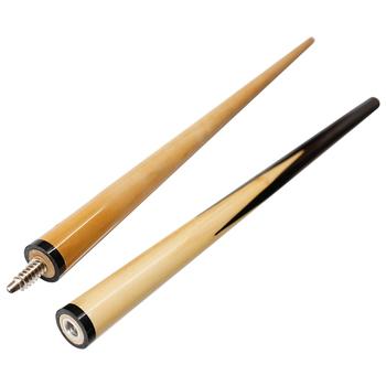 48In Junior dla dzieci bilard są do wyboru gości wał 2-sztuka drewniany kij bilardowy rozrywki Snooker bilard narzędzie tanie i dobre opinie CN (pochodzenie) Kij bilardowy z przegubem 1 2 Cue Stick Kij ze złączem pośrodku Billar STAINLESS STEEL Other Snooker ball arm