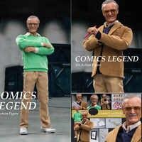 Juego completo de figuras de acción de la leyenda del cómic Stan padre, decoración estática para el hogar, regalo de colección, escala 1/6, 12 pulgadas, WO-001