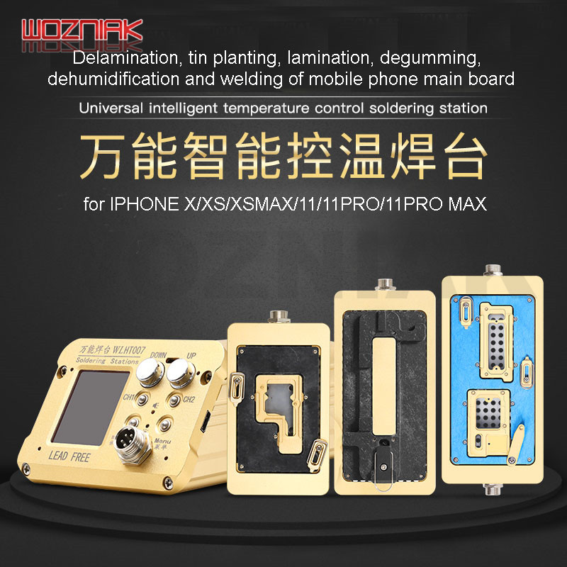 WL Soldering Station Intelligent Temperature Control Tin Planting Mainboard Layered Heating Table for iPhone 6-8 X XS 11 PRO MAX