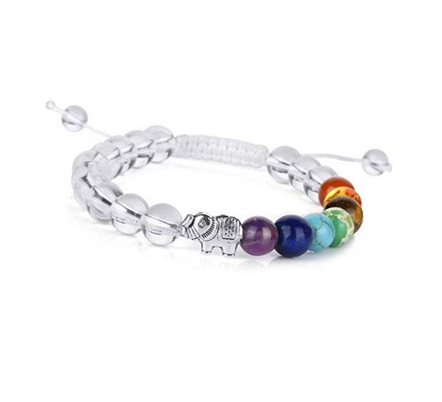 Bracelet Cristal De Roche 7 Chakras