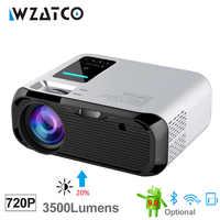 WZATCO E500 3500lumens Wifi Android 9.0 Smart Mini projecteur à LED portable multimédia maison projecteur Proyector prise en charge Full HD 1080P