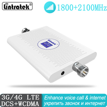 Amplificador de señal DCS 1800 2100 mhz 2G 3G repetidor UMTS amplificador de célula de doble banda LTE DCS 3G WCDMA 2100 móvil de gran oferta