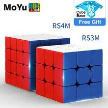 2020 MoYu RS4 M manyetik 4x4x4 sihirli küp MF4RS4 M 4x4 Magico Cubo RS3M manyetik küp 4*4 hız bulmaca oyuncaklar çocuklar için
