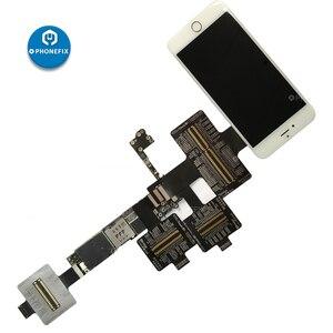 Image 3 - QIANLI iBridge FPC מבחן כבל עבור iPhone 6/6P/6S/6SP/7/7P/8/8P/X האם PCB בדיקת תקלה קדמי אחורי מצלמה טביעות אצבע