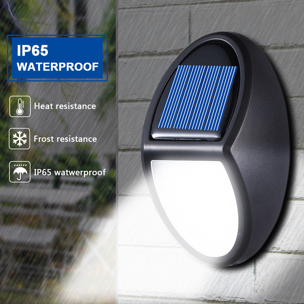 10 LED Solar Wall Lamp IP65 Waterproof Security Wall Lights Garden Outdoor Solar Control Lamp  Long Duration