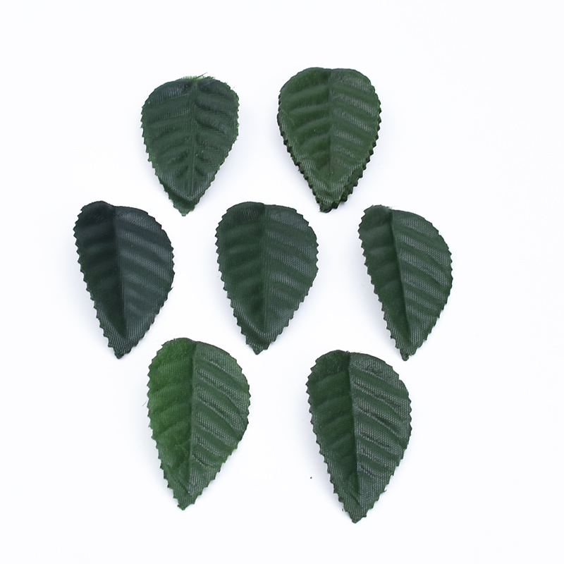 100pcs Silk Roses Leaf Green Leaves Diy Gifts Candy Box Christmas Decoration For Home Wedding Bridal Clearance Artificial Plants