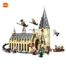 983 pces/est novo castelo mágico no céu great hall quidditch jogo expresso buckbeak resgate hedwig blocos de construção brinquedos para crianças