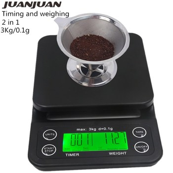 Coffee Scales Digital Scale Jewelry Weight With Timer Electronic LCD Display Grams Kitchen Drug Weight Tool Drip Scale 30% OFF