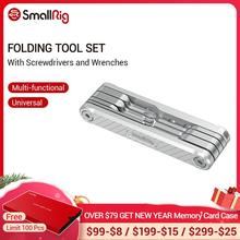 SmallRig Juego de Herramientas plegables con Destornilladores, llaves Allen, destornillador ranurado y herramientas de controlador Torx T25 2213