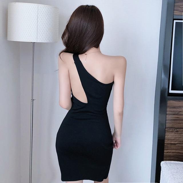 single shoulder night-out dress 3
