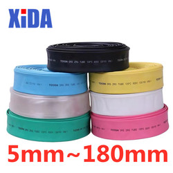 1meter 2:1 7color 10mm 20mm 30mm 40mm 50mm 80mm 100mm 150mm 180mm Heat Shrink Tube Heatshrink Tubing Wire Sleeving Wrap Kits