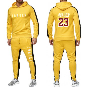 Men's Fashion Tracksuit Casual Sportsuit Men Hoodies/Sweatshirts Sportswear JORDAN 23 Coat+Pant Tracksuit Men Set Brand Clothing