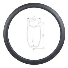 50 millimetri di figura di U tubeless strada disco cerchio in carbonio 25 millimetri di larghezza ciclocross disco ruota 700c 3K UD opaco lucido 20 24 28 32 36 Fori