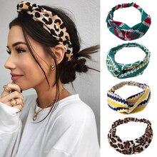 Модный цветочный узел с богемным принтом, Женская повязка на голову, эластичная чалма, повязка на голову для девушек, головные уборы, женские элегантные аксессуары для волос, повязка на голову