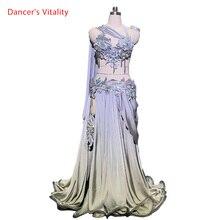 Индивидуальный бюстгальтер с лентой для танца живота, Женский восточный индийский костюм для выступлений и выступлений